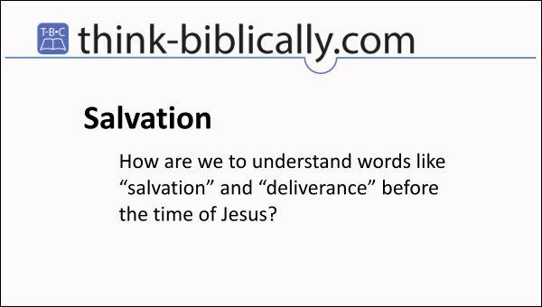 Salvation before Jesus